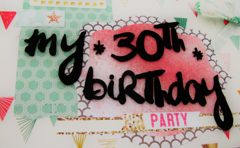 """Libro de firmas para Alba """"30 cumpleaños"""""""