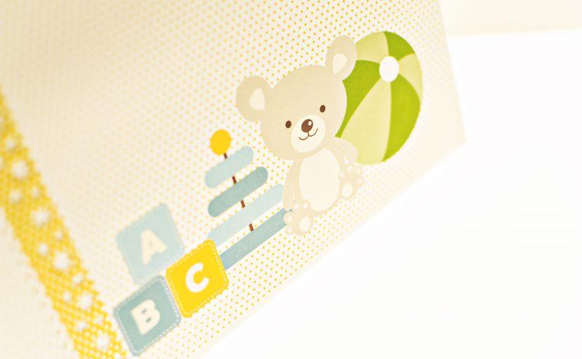 Álbum de scrapbooking bebé niño
