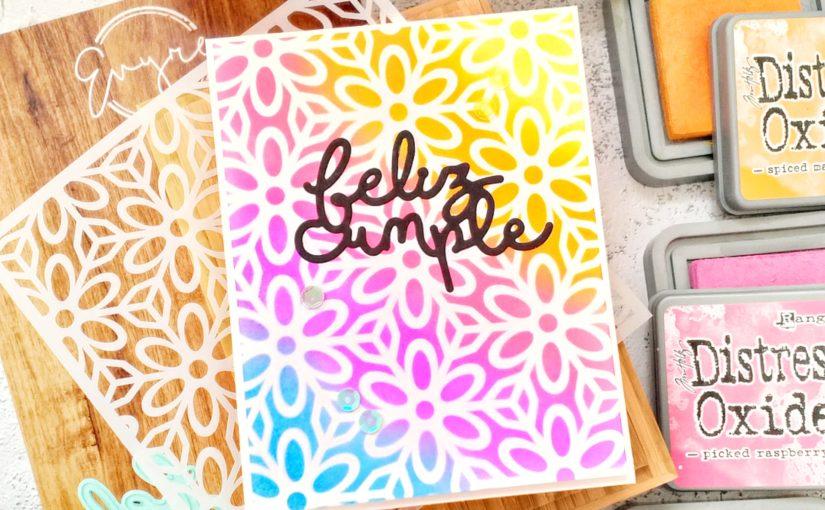 Video tutorial tarjeta scrapbooking fácil con stencil | Evyre